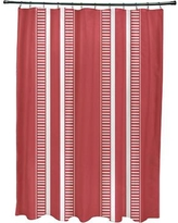 Beachcrest Home Mundell Dashing Stripe Shower Curtain BCMH3576 Color: Red