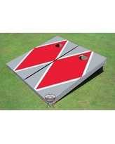 All American Tailgate Matching Diamond Cornhole Board PT-27 Color: Red and Gray