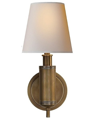 Longacre Wall Sconce by Visual Comfort - Color: Beige - Finish: Bronze - (TOB 2010BZ-NP)