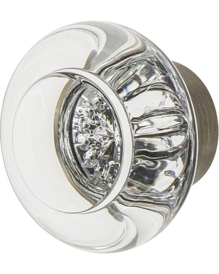 Nostalgic Warehouse Round Clear Crystal 1-3/8 in. Cabinet Knob in Antique Pewter