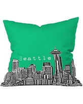 """Deny Designs Bird Ave Seattle Throw Pillow 13612/13613-thr Size: 20"""" x 20"""", Color: Green"""