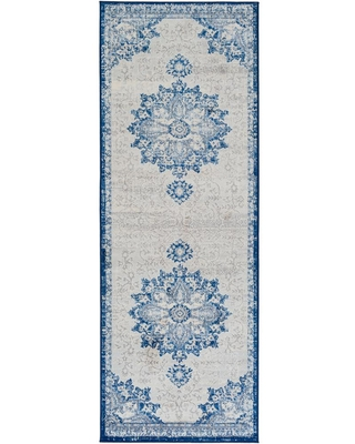 Find The Best Deals On Artistic Weavers Zillah Navy 2 Ft 7 In X 7 Ft 3 In Runner Rug Medallion Area Rug Blue