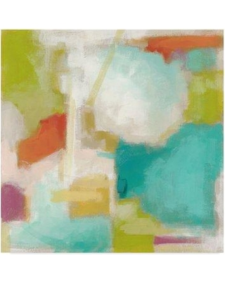 "East Urban Home 'Color Space I' Acrylic Painting Print on Wrapped Canvas W000143305 Size: 35"" H x 35"" W x 2"" D"