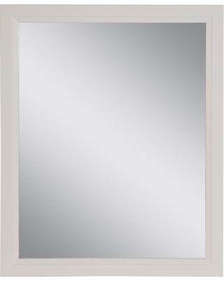 Home Decorators Collection Stratfield 25.67 in. W x 31.38 in. H Framed Wall Mirror in Cream (Ivory)