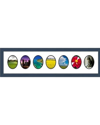 Frames By Mail 7 Opening Collage Picture Frame multimat-58943-107 / multimat-58943-108 Color: Blue