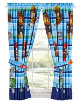 PAW Patrol Kids Bedroom Curtain Panel Set, Set of 2, 63-inch L