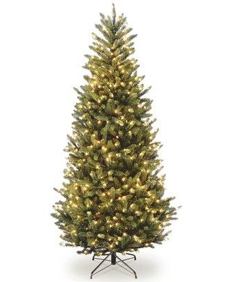 Red Barrel Studio Slim Green Fir Artificial Christmas Tree with Clear White Lights RDBT2745 Size: 10'