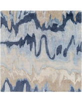 Discover Deals On Gemini Abstract Handmade Tufted Blue Beige Area Rug Surya Rug Size Rectangle 9 X 13