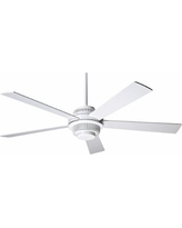 "52"" Modern Fan Solus Gloss White Ceiling Fan"