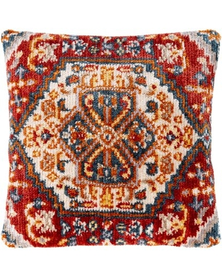 """Bibi Updated Throw Pillow World Menagerie Color: Burnt Orange, Size: 21"""" x 21"""", Fill Material: Polyester/Polyfill"""