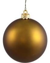 """The Holiday Aisle UV Drilled Cap Shiny Ball Ornament HLDY3855 Size: 12"""", Color: Olive"""