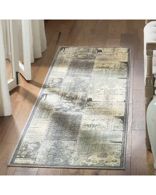 """Saint-Michel Gray/Anthracite Area Rug Bungalow Rose Rug Size: Runner 2'2"""" x 7'2"""""""