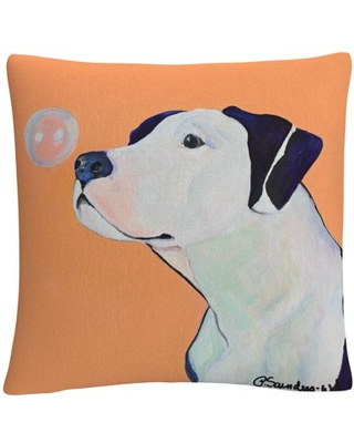 Fascination' Animals Pets Painting Bold By Pat Saunders-White 16 X 16 Decorative Throw Pillow