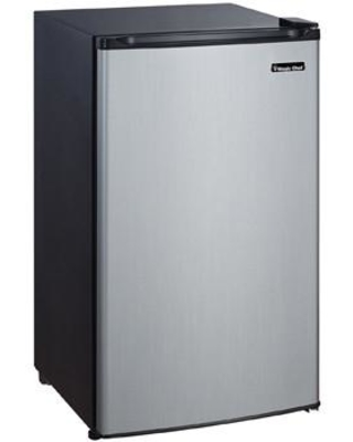 """MCBR350S2 19"""" Mini Refrigerator with 3.5 cu. ft. Capacity Full Width Freezer Compartment 3 Adjustable Glass Shelves and Can Dispenser in Stainless"""