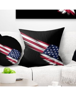 New Deal On Abstract Wing With American Flag Pillow East Urban Home Size 16 X 16 Product Type Throw Pillow