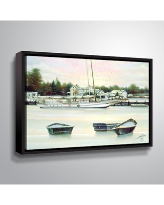 """Winter Harbor Painting Print on Wrapped Canvas Breakwater Bay Size: 24"""" H x 32"""" W x 2"""" D"""