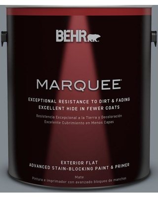 BEHR MARQUEE 1 gal. #PPU26-21 Overcast Matte Exterior Paint and Primer in One