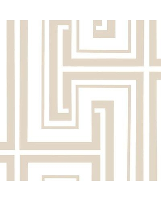 "Mercer41 Heatherly 32.7' x 20.5"" Tease Wallpaper MCRF6775 Color: Taupe"