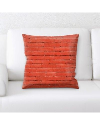 """East Urban Home Throw Pillow, Microsuede/Polyester/Polyfill in Red, Size 18X18"""" 