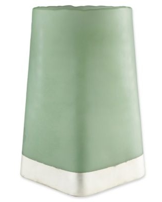 Surya Small Talma Decorative Candle Holder in Green/Cream
