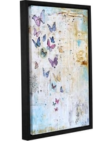 """Latitude Run Flutter Framed Painting Print on Wrapped Canvas LATR6112 Size: 18"""" H x 12"""" W x 2"""" D"""