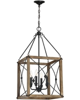 Check Out Deals On Cordelia Lighting Open Square 14 In 2 Light Painted Wood With Vintage Black Flush Mount