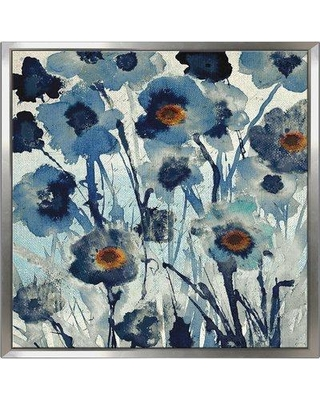 """Winston Porter 'Forget Me Not I' Framed Acrylic Painting Print on Canvas BF126896 Size: 21.5"""" H x 21.5"""" W x 2"""" D"""