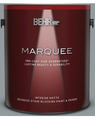 BEHR MARQUEE 1 gal. #720F-4 Stone Fence Matte Interior Paint and Primer in One