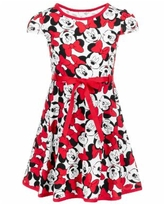 Disney Toddler Girls Minnie Mouse Dress - White/Red