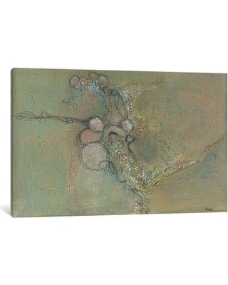 """East Urban Home 'Myst IX' Painting Print on Wrapped Canvas ESRB9583 Size: 12"""" H x 18"""" W x 1.5"""" D"""