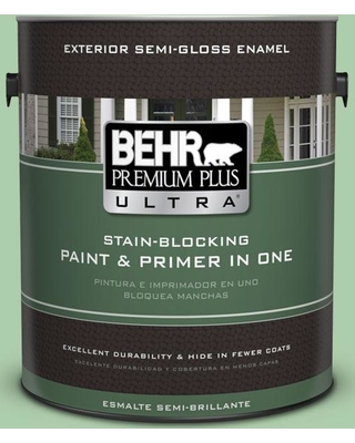 BEHR ULTRA 1 gal. #450D-4 Garden Room Semi-Gloss Enamel Exterior Paint and Primer in One