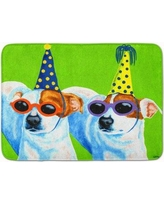East Urban Home Party Animals Jack Russell Terriers Memory Foam Bath Rug EAAS7549
