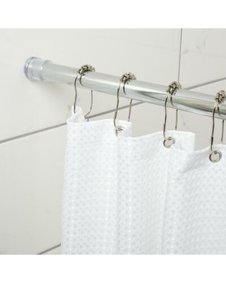 "Zenna Home 40"" Adjustable Straight Tension Shower Curtain Rod Zenith Products"