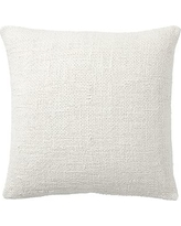 "Faye Textured Linen Pillow Cover, 20"", Ivory"