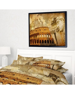 'Great Roman Empire' Framed Graphic Art Print on Wrapped Canvas