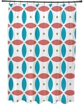 e by design Beach Ball Geometric Print Shower Curtain SCGN175 Color: Seed