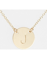 Women's Nashelle 14K-Gold Fill Anchored Initial Disc Necklace