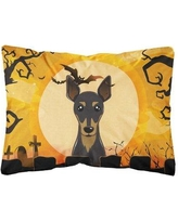 The Holiday Aisle Encline Halloween Min Pin Fabric Indoor/Outdoor Throw Pillow BF148620