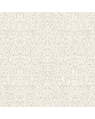 Norwall Distressed Paisley Wallpaper Beige Ivory Cottage White Antique Swiss