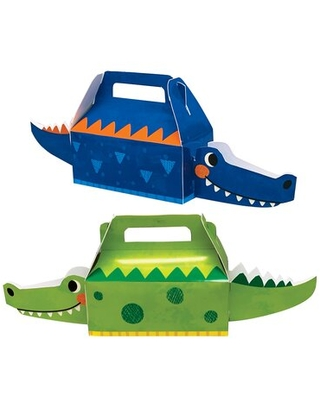 Alligator Birthday Party Paper Favor Boxes 12 Count