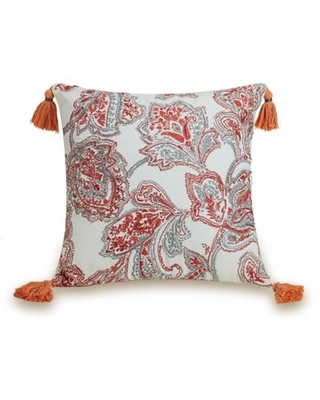 Deals On Jessica Simpson Coral Gables Square Throw Pillow In Coral