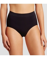Assets by Spanx Women's All Around Smoother Brief - Very Black M