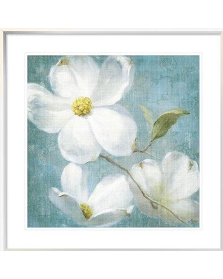 """East Urban Home 'Indiness Blossom Square Vintage IV' Print ESUM7238 Size: 31.63"""" H x 31.63"""" W Format: White Framed"""