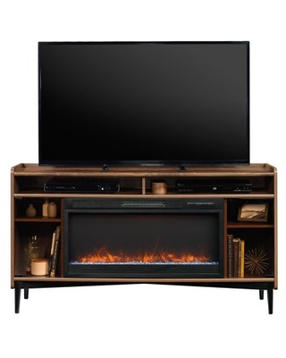 """Better Homes & Gardens Montclair Entertainment Fireplace TV Stand for most Flatscreen TVs up to 60"""", Vintage Walnut Finish"""