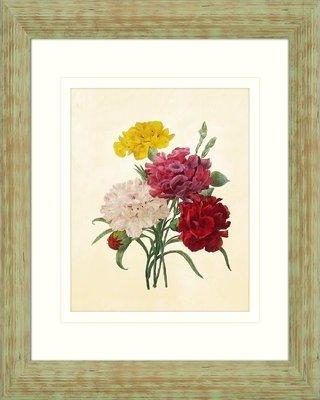 PTM Floral Bouquet Framed Drawing Print 1-24041A