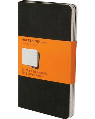 "Moleskine 3pk College Ruled Solid Composition Notebooks 5.5""x 3.75"" Black"