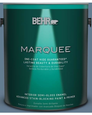 BEHR MARQUEE 1 gal. #S510-5 Skinny Jeans One-Coat Hide Semi-Gloss Enamel Interior Paint and Primer in One