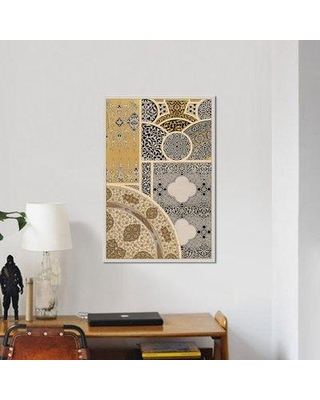 """East Urban Home 'Ornament in Gold & Silver III' Graphic Art Print on Wrapped Canvas ESRB9618 Size: 26"""" H x 18"""" W x 1.5"""" D"""