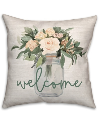 Welcome Jar Of Flowers Throw Pillow By Designs Direct | Michaels®