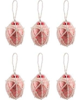 The Holiday Aisle Beaded Oval Holiday Shaped Ornament Set of 6 IMEZ8069